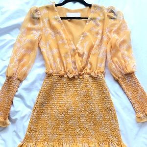 Keepsake the Label Yellow Printed Dress